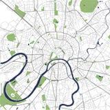 Mapa de la ciudad de Moscú, Rusia Imágenes de archivo libres de regalías