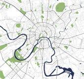 Mapa de la ciudad de Moscú, Rusia Imagen de archivo