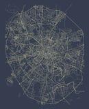 Mapa de la ciudad de Moscú, Rusia Foto de archivo libre de regalías