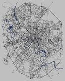 Mapa de la ciudad de Moscú, Rusia Imagen de archivo libre de regalías