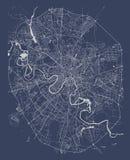 Mapa de la ciudad de Moscú, Rusia Fotografía de archivo libre de regalías