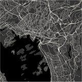 Mapa de la ciudad de Oslo, Noruega Imagen de archivo