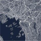 Mapa de la ciudad de Oslo, Noruega Fotos de archivo