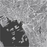 Mapa de la ciudad de Oslo, Noruega Foto de archivo