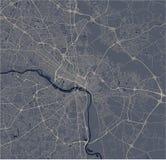 Mapa de la ciudad de Richmond, Virginia, los E.E.U.U. fotos de archivo