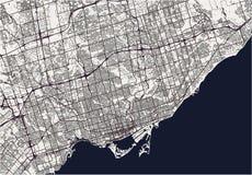 Mapa de la ciudad de Toronto, Canadá Imágenes de archivo libres de regalías