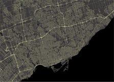 Mapa de la ciudad de Toronto, Canadá Fotografía de archivo