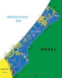 Mapa de la Franja de Gaza  Foto de archivo libre de regalías