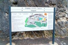 Mapa de la información del castillo de Hohensalzburg, Salzburg, Austria Fotos de archivo libres de regalías