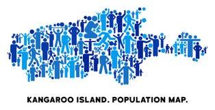 Mapa de la isla del canguro del Demographics libre illustration