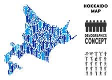 Mapa de la isla de Hokkaido del Demographics libre illustration