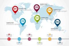 Mapa de la palabra infographic Imágenes de archivo libres de regalías