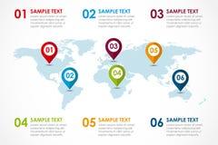 Mapa de la palabra infographic Fotos de archivo