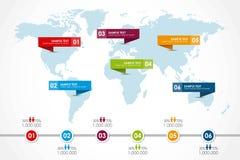 Mapa de la palabra infographic Foto de archivo libre de regalías