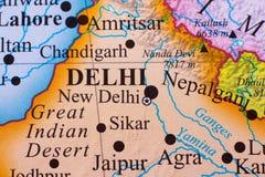 Mapa de la parte meridional de la India fotos de archivo