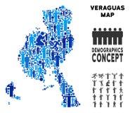 Mapa de la provincia de Veraguas del Demographics stock de ilustración