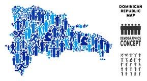 Mapa de la República Dominicana del Demographics libre illustration