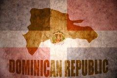 Mapa de la República Dominicana del vintage libre illustration