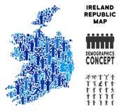 Mapa de la república de Irlanda del Demographics libre illustration