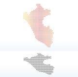 Mapa de la república Perú con Dot Pattern Foto de archivo libre de regalías