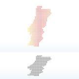 Mapa de la república portuguesa con Dot Pattern Foto de archivo