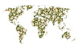 Mapa de la tierra, comunicación Foto de archivo libre de regalías
