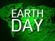 Mapa 1 de la tierra verde de la bandera del Día de la Tierra Fotos de archivo libres de regalías