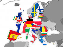 Mapa de la UE stock de ilustración