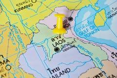 Mapa de Laos imagem de stock