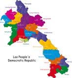 Mapa de Laos Imagens de Stock