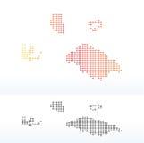 Mapa de las islas de Pitcairn con Dot Pattern Fotografía de archivo