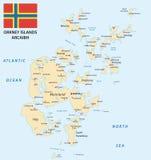 Mapa de las Islas Orcadas ilustración del vector
