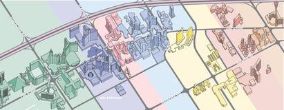 Mapa de Las Vegas Fotografia de Stock