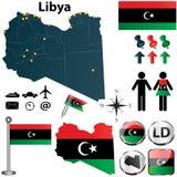 Mapa de Líbia Fotografia de Stock Royalty Free