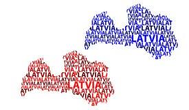Mapa de Letónia - ilustração do vetor ilustração royalty free