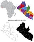 Mapa de Liberia Imagens de Stock