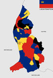 Mapa de Liechtenstein Fotografía de archivo