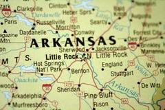 Mapa de Little Rock Arkansas fotos de stock royalty free