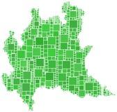 Mapa de Lombardia (Italy) Imagem de Stock Royalty Free