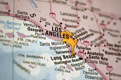 Mapa de Los Angeles Fotografia de Stock Royalty Free