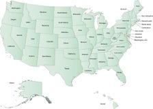 Mapa de los E.E.U.U. Fotos de archivo