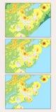 Mapa de los efectos del calentamiento del planeta Foto de archivo