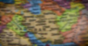 Mapa de los países en el Oriente Medio metrajes
