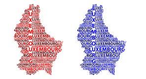 Mapa de Luxemburgo - ilustração do vetor ilustração do vetor
