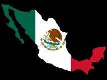 Mapa de México Imagens de Stock
