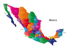 Mapa de México Imagem de Stock Royalty Free
