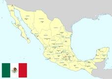 Mapa de México Foto de archivo