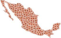 Mapa de México (América) Imagens de Stock Royalty Free