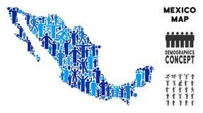 Mapa de México del Demographics ilustración del vector
