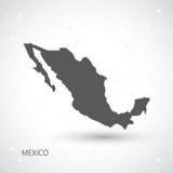 Mapa de México y vector del fondo de la comunicación Fotos de archivo